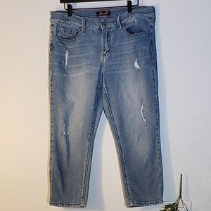 Seven7 Girlfriend Cropped Ankle Jeans